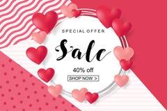 Valentines Day Sale, Discont Card. Vector Illustration. EPS10 vector illustration