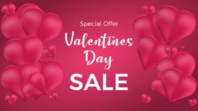 Valentines Day Sale. Vector illustration. royalty free illustration