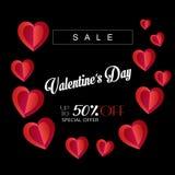 Valentines day Sale offer banner elegant royalty free illustration