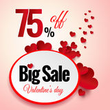 Valentines Day sale flayers. Royalty Free Stock Photos