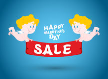 Valentines day sale. Holiday sales symbol.  Royalty Free Stock Images