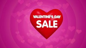 Valentines day sale offer title concept animation stock video footage
