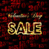 Valentines day sale Royalty Free Stock Photo