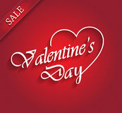 Valentines day sale with ribbon Stock Photo
