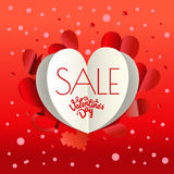 Valentines day sale special offer banner Royalty Free Stock Image