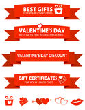 Valentines day sale text banners Royalty Free Stock Photos