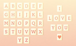 Valentines day, scrabble letter tiles, alphabet Stock Photo