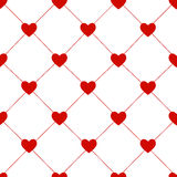 Valentines Day Seamless Hearts Pattern Vector Royalty Free Stock Photography