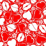 Valentines Day seamless pattern Stock Image