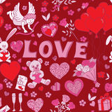 Valentines day seamless pattern background Stock Image
