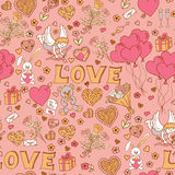 Valentines day seamless pattern background Stock Images