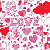 Valentines day seamless pattern background Stock Photography