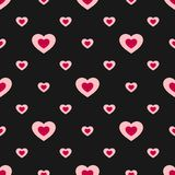 Valentines day vector seamless pattern with colorful hearts. Love pattern. Valentines pattern. Hearts background. Valentines day seamless pattern with colorful Royalty Free Stock Photography