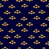 Valentines day seamless pattern with gold glitter hearts Royalty Free Stock Photo