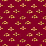 Valentines day seamless pattern with gold glitter hearts 2 Royalty Free Stock Image