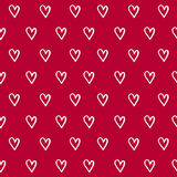 Valentines Day seamless pattern with hand draw hearts Royalty Free Stock Photos