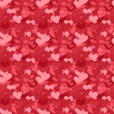 Valentines Day seamless pattern. Heart endless background. Romance, love repeating texture. Holiday wallpaper, paper Stock Photo
