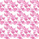 Valentines Day seamless pattern. Heart endless background. Romance, love repeating texture. Holiday wallpaper, paper Royalty Free Stock Photography