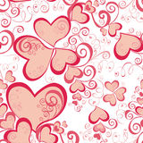 Valentines Day seamless pattern with hearts Royalty Free Stock Photography