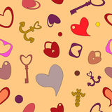 Valentines Day seamless pattern Royalty Free Stock Photography