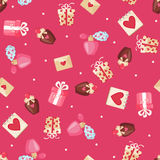 Valentines day seamless pattern. Stock Image