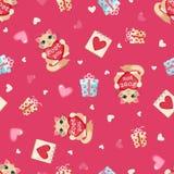 Valentines day seamless pattern. Stock Photos