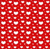 Valentines Day seamless pattern with hearts. Love, romance endless background, texture. Vector illustration. Royalty Free Stock Photography