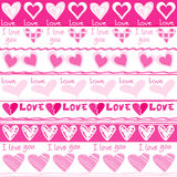 Valentines Day seamless pattern with hearts Stock Photography