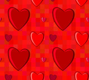 Valentines Day seamless pattern with hearts Stock Images