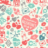 Valentines Day seamless pattern Stock Photography
