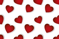 Valentines day seamless pattern white background Stock Images
