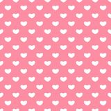 Valentines Day seamless patterns. Pink endless backgrounds with hearts.  Royalty Free Stock Photos