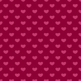 Valentines Day seamless patterns. Pink endless backgrounds with hearts. For paper, textiles, cards, wedding Stock Images