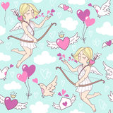 Valentines day seamless vector pattern Stock Photo
