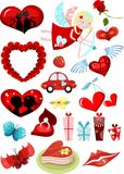 Valentines day set Royalty Free Stock Photos