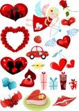 Valentines day set royalty free stock photos