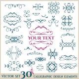 Valentines Day set. Calligraphic design elements Royalty Free Stock Photos