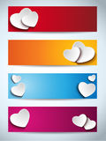 Valentines Day Set of Four Banners Royalty Free Stock Photography