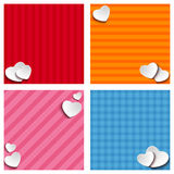 Valentines Day Set of Four Web Banners Stock Photo