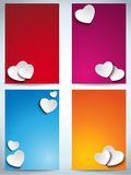 Valentines Day Set of Four Web Banners Royalty Free Stock Photography