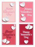 Valentines Day Set of Four Web Banners Stock Images