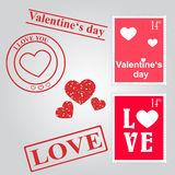 Valentines day set vector illustration