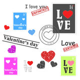 Valentines day set Stock Photography