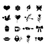 Valentines day set icons Royalty Free Stock Images