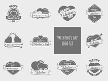 Valentines day set of label, badges, stamp and design elements Royalty Free Stock Photo