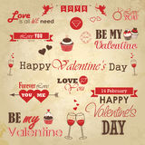 Valentines day set - labels, emblems and decorative elements Royalty Free Stock Image