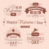 Valentines day set - labels, emblems and decorative elements Stock Image