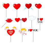 Valentines day Set photo props for photo shoot. Elements for pho Royalty Free Stock Photos