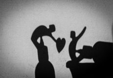 Valentines Day - shadow art. Happy valentines day, valentine day love concept Royalty Free Stock Photos