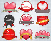 Valentines Day Shine Lighting Background Vector De Stock Image